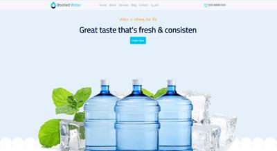 قالب بيع مياه